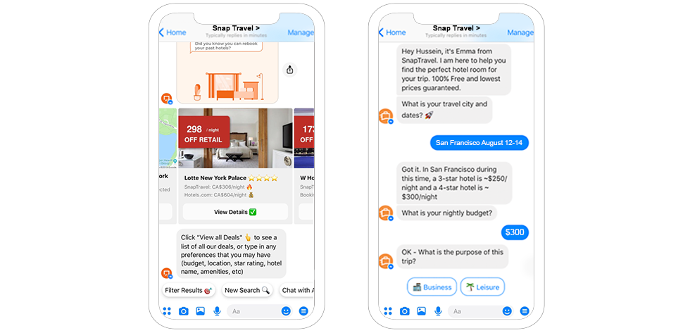 SnapTravel Hotel Booking Chatbot