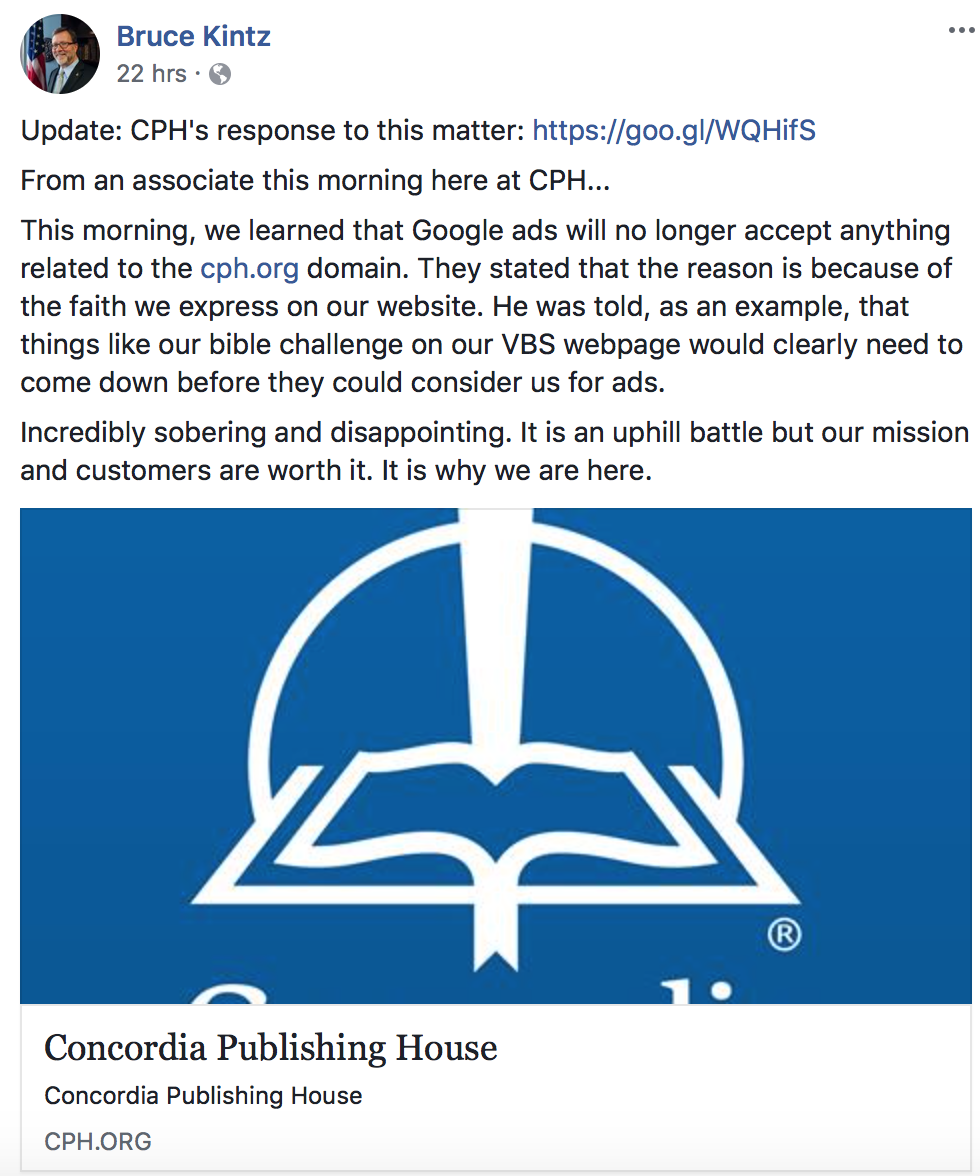 CPH Detailed The Rejection On Their Website. They Were Initially Told That  All CPH Remarketing Ads Were U201cdisabled Due To A Violation Of Googleu0027s  Policy For ...