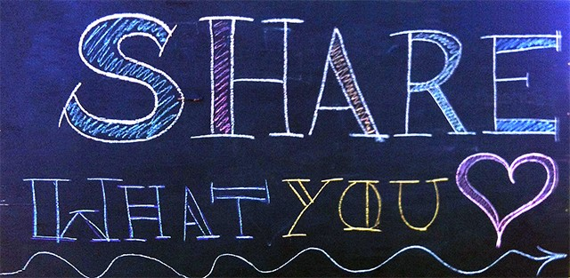 Share what you [heart]