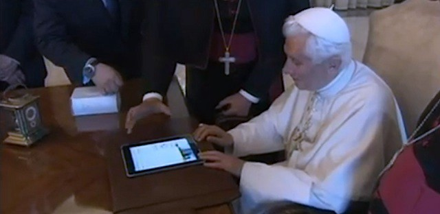 The pope's iPad smells like old people.