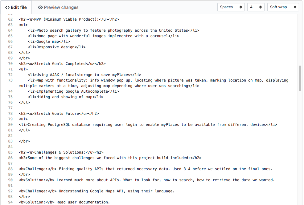 Approach 2: Click on Create new file and give file name README.md -