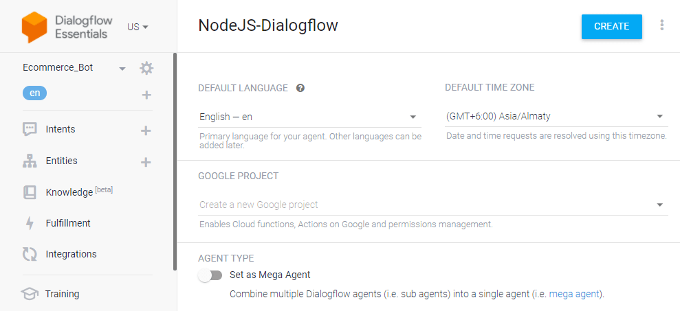 Step by Step Guide to Integrate Dialogflow with NodeJS