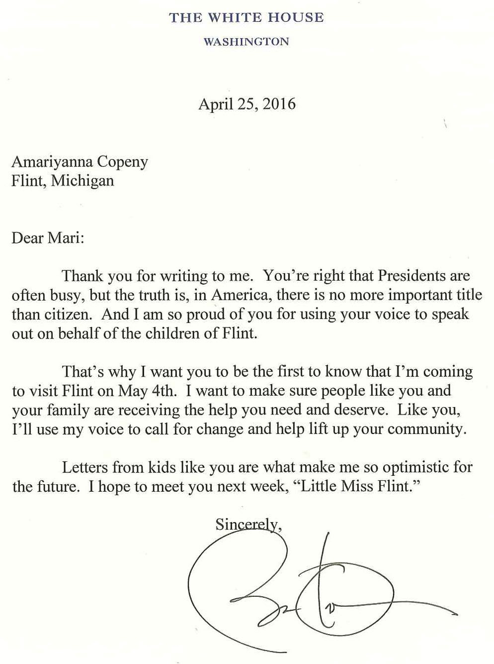 asked and answered president obama responds to an eight year old  president obama s reply to mari