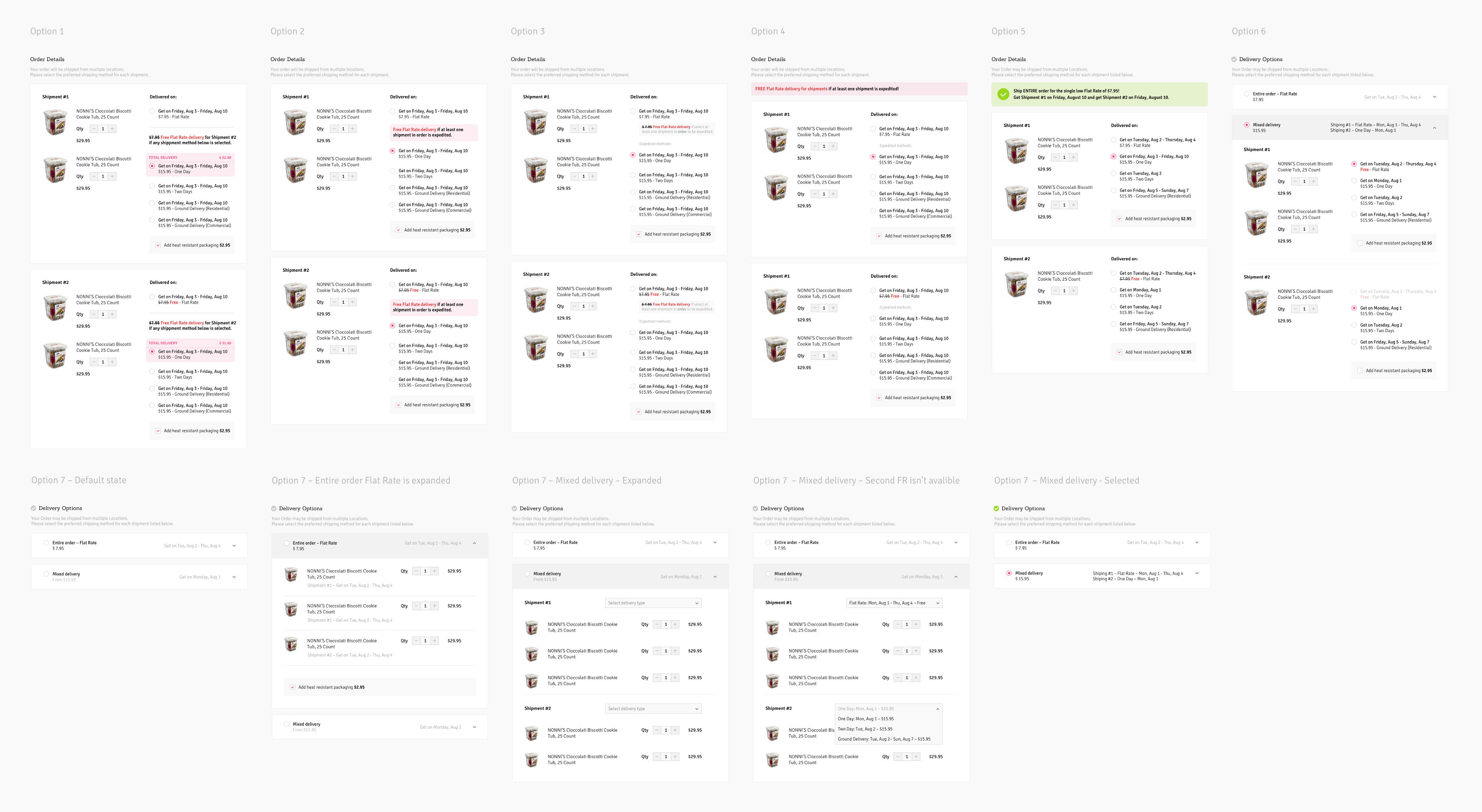 Iterations of checkout page design | Checkout Redesign & Optimization Case Study