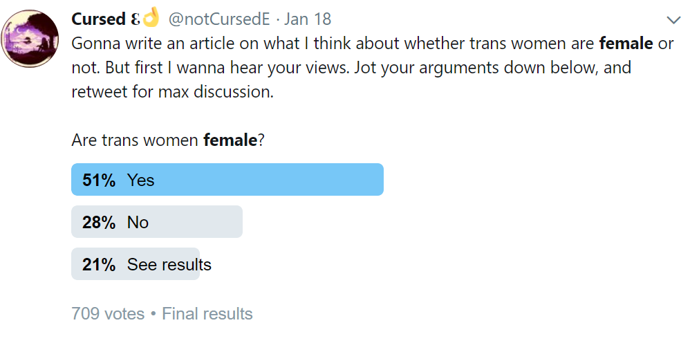 Are Trans Women Female Are Trans Men Male Cursed E Medium