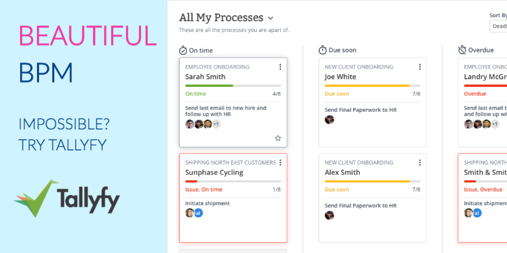 take a look at a video demo of tallyfy below as a viable user friendly alternative to appian