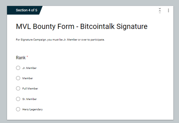 Image result for ico bounty google form